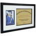 Green Tree Gallery, Graduation Diploma and Photo Frame, Black, 20 3/4 x 12 5/8 x 13/16 inches