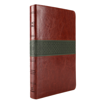 ESV Large Print Thinline Reference Bible, TruTone, Walnut and Slate