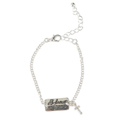 Bella Grace, He Knows My Name Pull Chain Bracelet, Zinc Alloy, Silver-tone