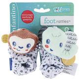 Infantino, Monkey & Elephant Foot Rattles Socks, 1 Pair