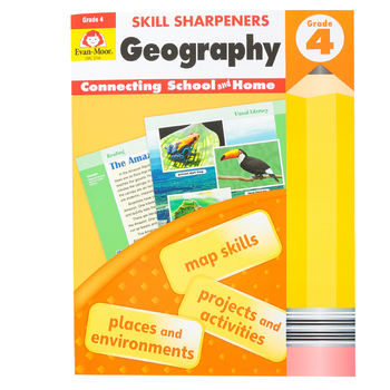 Evan-Moor, Skill Sharpeners Geography 4 Activity Book, Paperback, 144 Pages, Grade 4