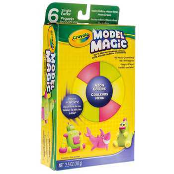 Crayola, Model Magic Modeling Compound in Neon Colors, 6 Count
