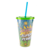 Superheroes Collection, Teaching is my Super Power Teacher Tumbler with Lid, 24 ounces, Multi-colored