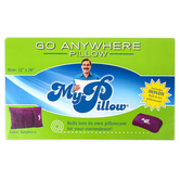 MyPillow, Roll and GoAnywhere Pillow, Raspberry, 12 x 18 Inches
