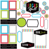 Isabella Collection, Focus Wall Bulletin Board Set, Multi-Colored, 34 Pieces