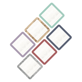 Farmhouse Lane Collection, Jumbo Cutouts, 10-Inch Squares, 6 Assorted Designs, 12 Pieces