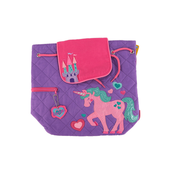 Stephen Joseph, Unicorn Quilted Backpack, 12 x 13 1/2 inches