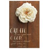 Salt & Light, Create in Me a Pure Heart Church Bulletins, 8 1/2 x 11 inches Flat, 100 Count