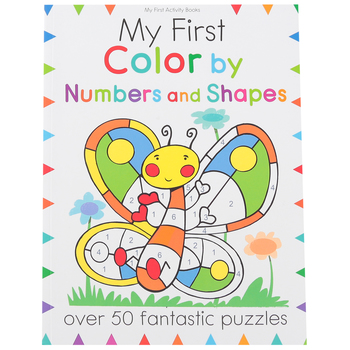 Barron's, My First Color by Numbers and Shapes, Paperback, 64 Pages, Ages 3-6