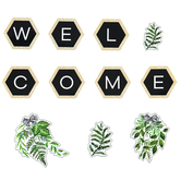 Schoolgirl Style, Simply Boho Welcome Bulletin Board Set, Multi-Colored, 20 Pieces