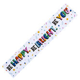 Colorfetti Collection, Be Happy...Banner, Multi-Colored Confetti, 5 Foot