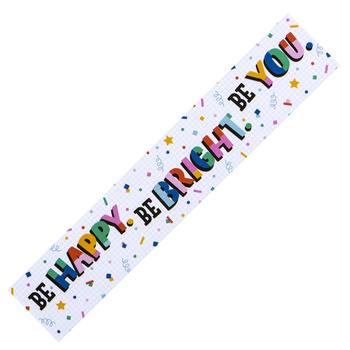 Colorfetti Collection, Be Happy...Banner, Multi-Colored Confetti, 5 Foot