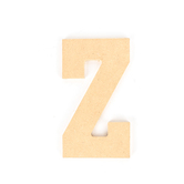 Woodpile Fun, MDF Natural Wood Color Letter - Z, 5 inches, Brown