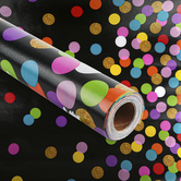 Teacher Created Resources, Better Than Paper Bulletin Board Roll, Confetti on Black, 4 x 12 Foot, 1 Roll