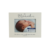 LCP Gifts, Psalm 127:3 Blessed Baby Photo Frame, MDF Wood, for 6 x 4 inch Photo