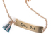 By His Grace, By His Grace ID Bracelet with Tassel, Zinc Alloy and Iron, Rose Gold