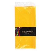 Brother Sister Design Studio, Plastic Table Cover, Yellow, Rectangle, 54 x 108 Inches, 1 Each