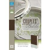 NIV Couples' Devotional Bible, Duo-Tone, Chocolate and Silver