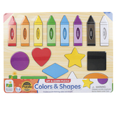 The Learning Journey, Lift & Learn Colors & Shapes Puzzle, 16 Pieces, 15 x 11 inches
