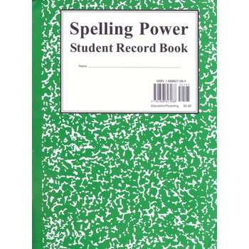 Spelling Power Green Student Record Book