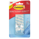 Command, Large Crystal Style Hook, Plastic, Clear, 3 x 1 inches