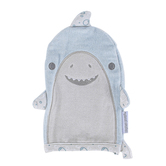 Stephen Joseph, Shark Baby Bath Mitt, Cotton, Blue & Gray, 5 1/2 x 8 inches