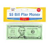 Learning Advantage, Five Dollar Bill Play Money, Set of 100