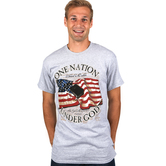 Red Letter 9, One Nation Under God, Men's Short Sleeve T-Shirt, Gray Heather, M-3XL