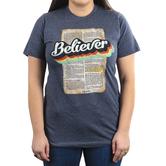 His Word Clothing Company, John 20:31 Believer, Women's Short Sleeve T-shirt, Heather Gray, S-2XL