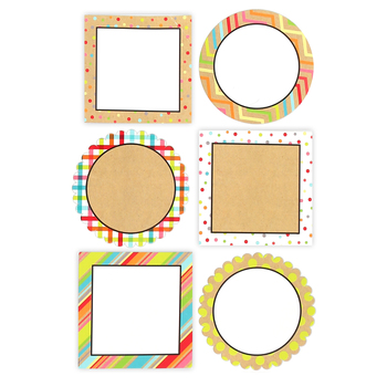 TooCute Collection, Jumbo Cutouts, 10 Inches, 6 Assorted Multi-Colored Designs, 12 Pieces