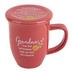 Abbey and CA Gift, Grandma Coffee Mug with Coaster, Coral, 14 Ounces