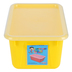 Storex, Small Cubby Bin With Clear Lid, Yellow, 12.28 x 7.95 x 5.22 Inches, 2 Pieces