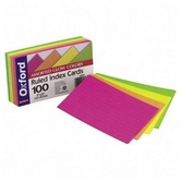 Ruled Neon Index Card 3X5