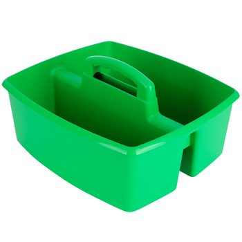 Storex, Large Caddy, Green, 2 Compartments, Plastic, 13 x 11 x 6.38 Inches, 1 Piece