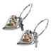 Bella Grace, Love Heart with Cross Dangle Earrings, Zinc Alloy, Silver and Gold