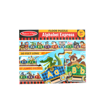 Melissa & Doug, Alphabet Express Floor Puzzle, Ages 3 to 5 Years Old, 27 Pieces