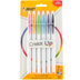 Bic, Cristal Up Ball Point Pens, Medium Point, Assorted Colors, Pack of 6