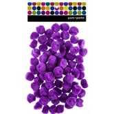 Pom Poms, 1 inch, Purple, 80 count