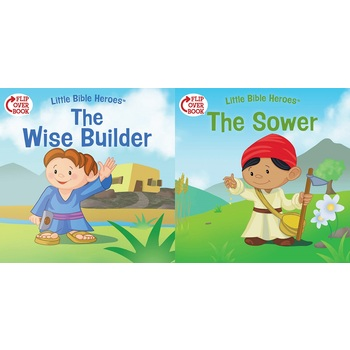 Little Bible Heroes, The Wise Builder and The Sower, Flip-Over Book, by Victoria Kovacs, Paperback