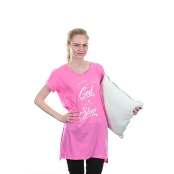 NOTW, Give It To God and Go To Sleep, Women's Sleep Shirt, Fuchsia, S-XL