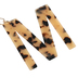 M Letter Keychain, Leopard, 2 3/4 x 2 1/4 Inches