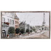 Along The Seine Wall Decor, Canvas, Assorted Colors, 21 7/8 x 40 x 1 1/2 inches