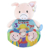 Ebba, 3 Little Pigs Plush Pig with Book, Story Pals, 9 inches