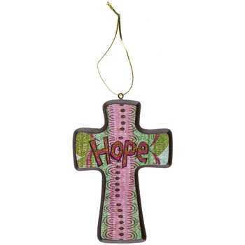 Mini Cross, Colorful Boho Hope Hanging Cross, 4 3/4 x 3 3/4 inches