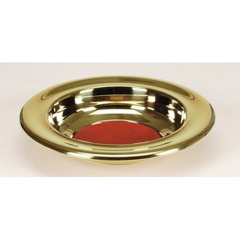 RemembranceWare, Offering Plate with Red Felt, 12 x 2 1/4 inches, Brass