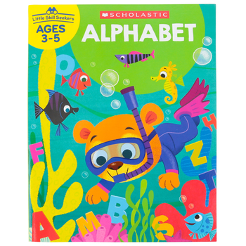 Scholastic, Little Skill Seekers: Alphabet Activity Book, 48 Pages, Grades PreK-K