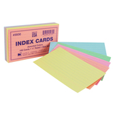 Oxford, Ruled Index Cards, 3 x 5 Inch, Assorted Pastel Colors, Pack of 100