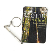 CTA, Inc., Colossians 2:7 Man of God 4-in-1 Screwdriver Keyring, Silver, 2 1/2 inches