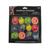 Brother Sister Design Studio, Fruit Scented Erasers, Multi-Colored, 1-1/2 to 2 Inches, Pack of 12