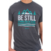 Kerusso, Psalm 46:10, Be Still & Know That He Is God, Men's Short Sleeve T-Shirt, Charcoal, Small